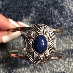 Genuine silver bracelet w stone